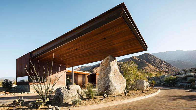 На фото один из домов проекта Desert Palisades в Палм Спрингс (США, штат  Калифорния). По задумке архитекторов жилого комплекса каждый дом должен  создаваться ... b96f41d12cf